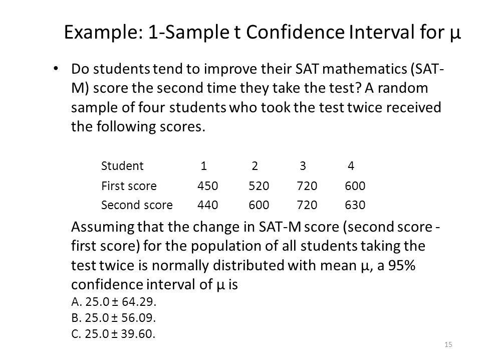 Statistical Inference: Confidence Intervals - ppt download