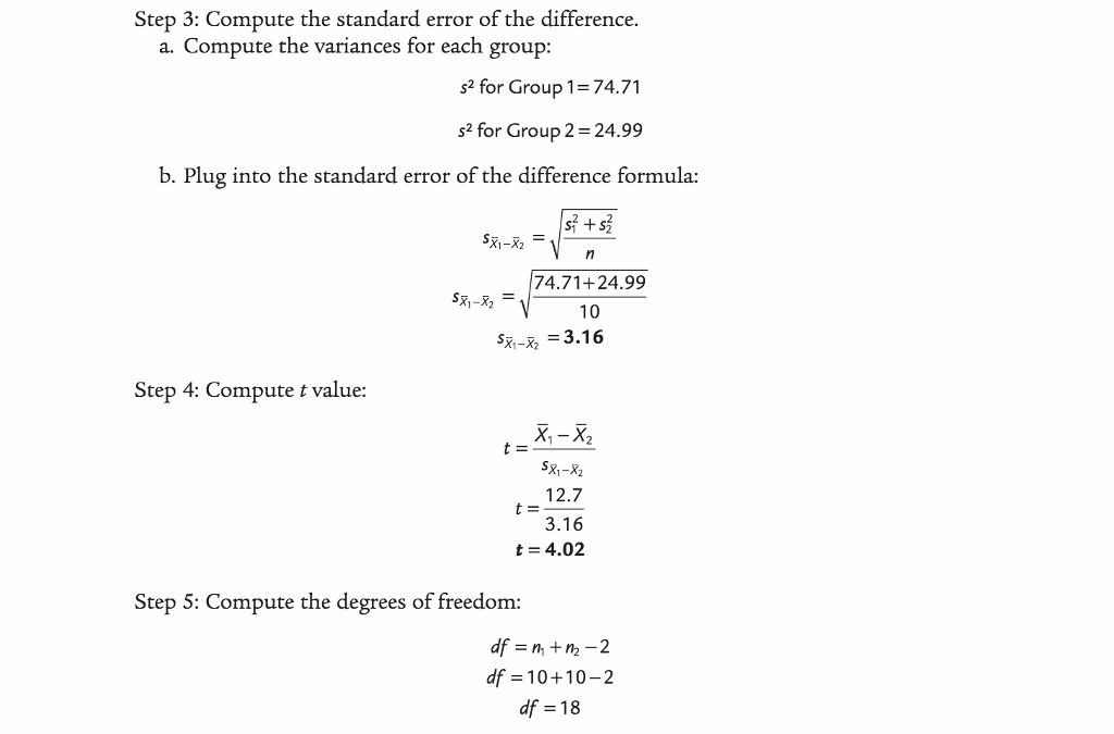 1. Do The Example Data Meet The Assumptions For Th... | Chegg.com