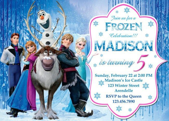 Frozen Birthday Invitations – gangcraft.net