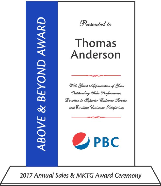 Sales Achievement Award Plaque (#009-1) | Wording Ideas | DIY Awards