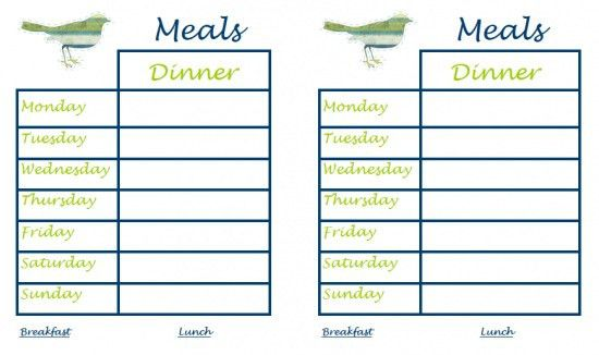 weekly meal planner printable allaboutthehouse printables monthly ...