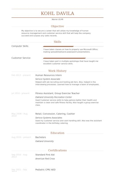 Fanciful Hr Intern Resume 4 Human Resources Intern Resume Samples ...