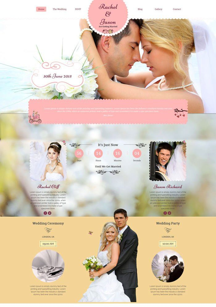 15 + Best Wedding Website Design Templates