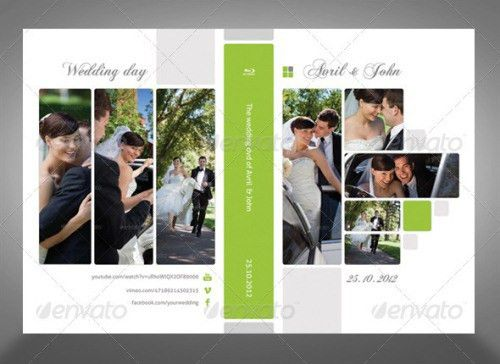 15 Wedding CD and DVD Artwork Cover Templates