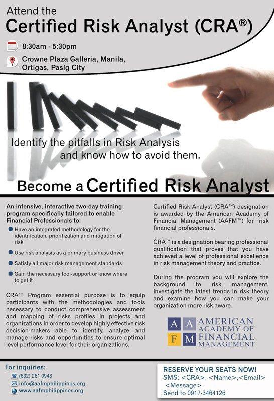CRA™ Certified Risk Analyst Program | AAFM Philippines