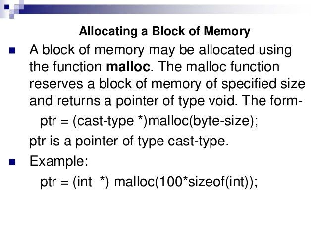 Chap 13(dynamic memory allocation)