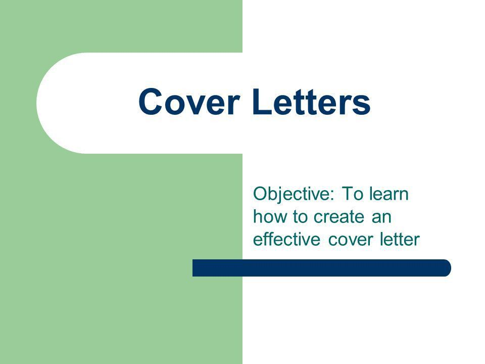 an effective cover letters