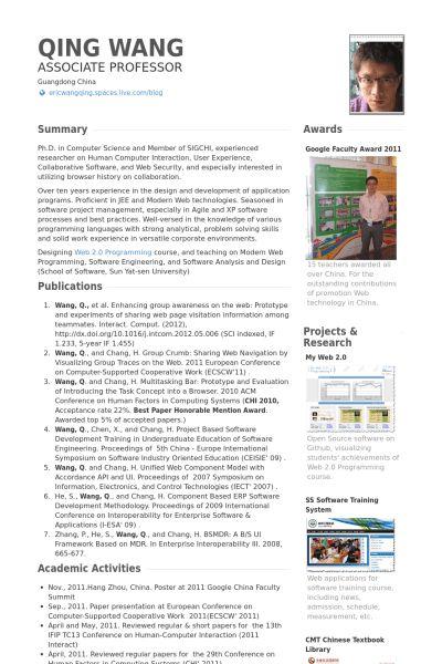 Sample Resume Of Assistant Professor - Gallery Creawizard.com