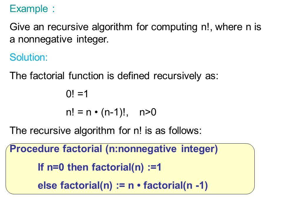Recursive Algorithms & - ppt download