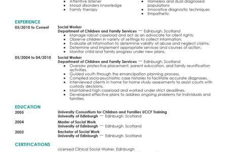 Social Worker Resume Example Social & Services Sample Resumes ...