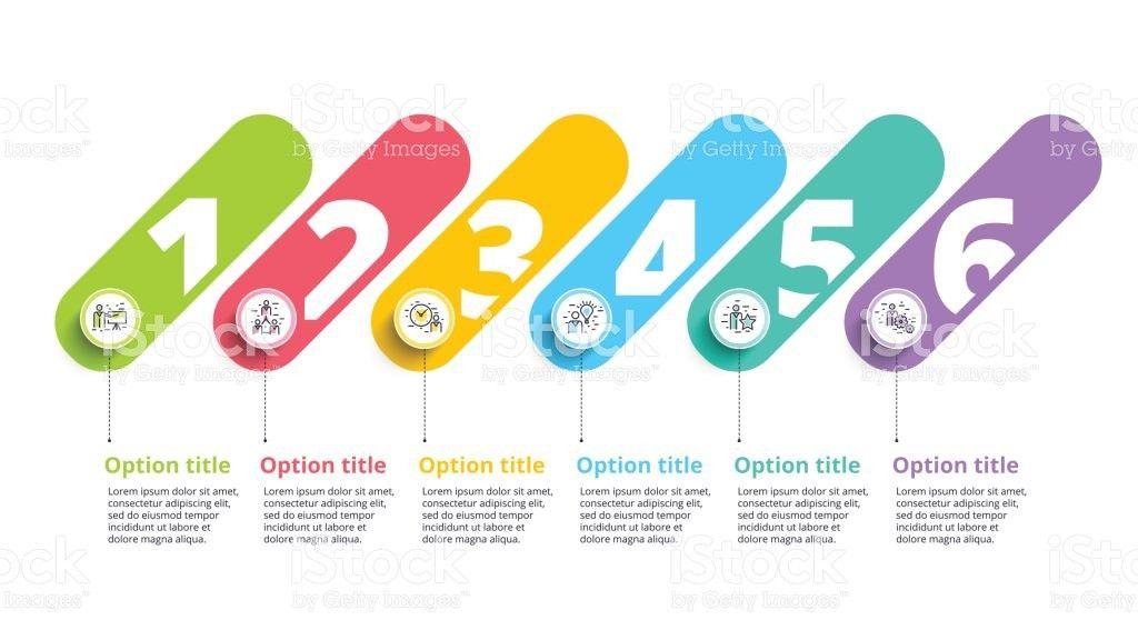 Business Process Chart Infographics With 6 Step Circles Circular ...