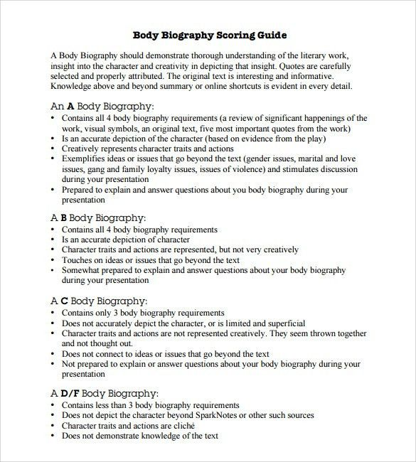 Sample Biography - 6+ Example, Format