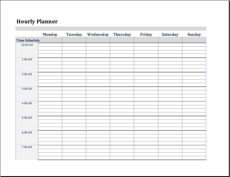 MS Word & Excel Editable Printable Planner Templates | Document ...