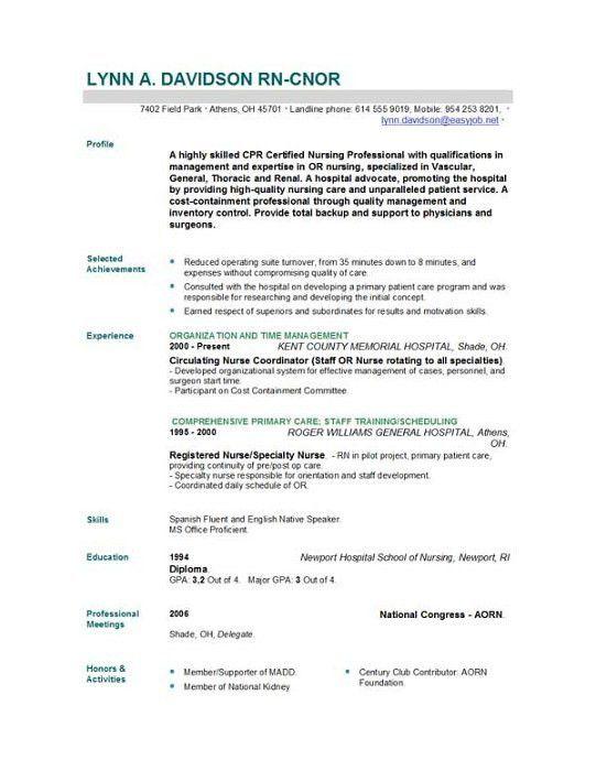 Nursing Student Resume. Nursing Student Resume Cover Letter ...