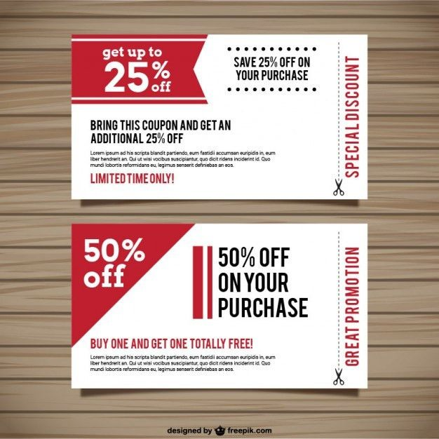 Coupon Vectors, Photos and PSD files | Free Download
