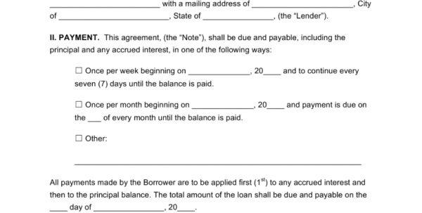 Loan Agreement Template Free Word Simple Loan Agreements Loan ...