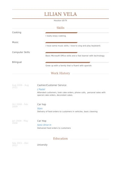 Cashier/Customer Service Resume samples - VisualCV resume samples ...