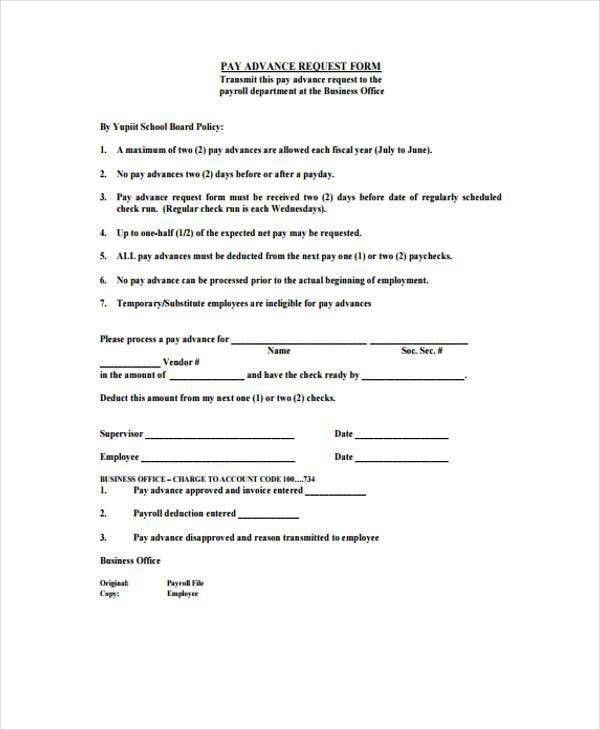 Sample Payroll Advance Forms - 8+ Free Sample, Example Format Download