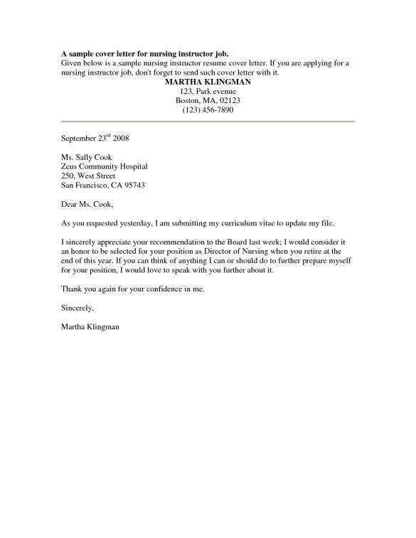 34 Job Wining Cover Letter Samples for Nursing Jobs : Vntask.com