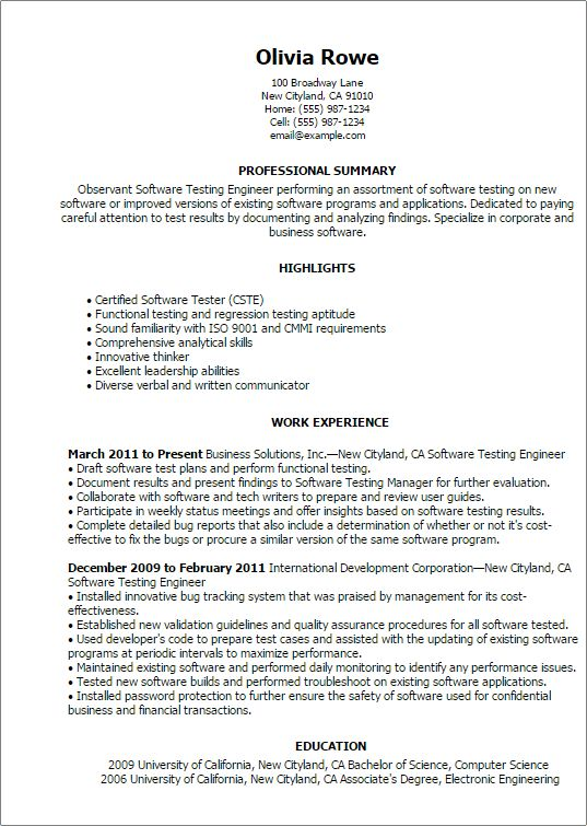 Computers & Technology Resume Templates to Impress Any Employer ...