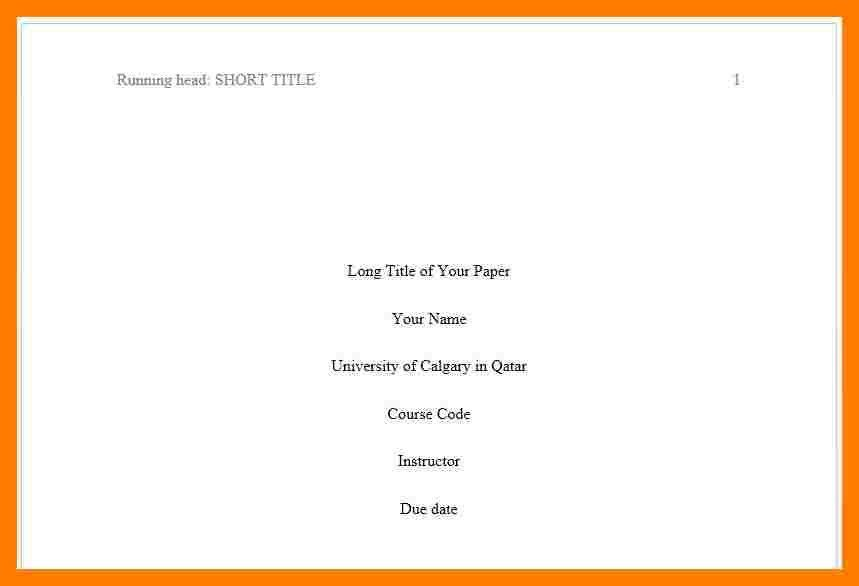 6+ apa paper title page example | teller resume