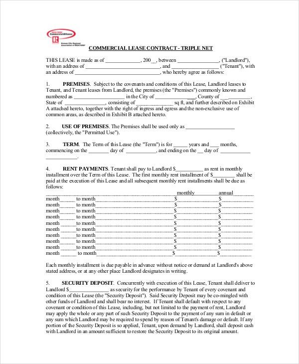 Commercial Lease Agreement - 10+ Free PDF, Word Documents Download ...