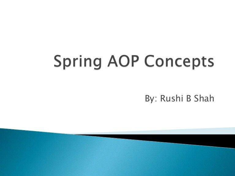 Spring aop concepts