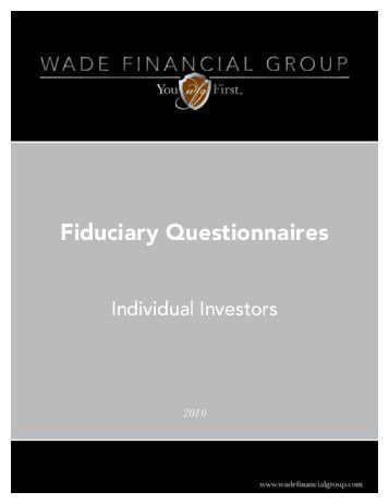 Confidential Financial Planning Questionnaire - Marketing Financial