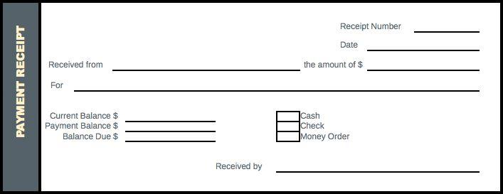 Payment Receipt – Excel Format – Receipt Template