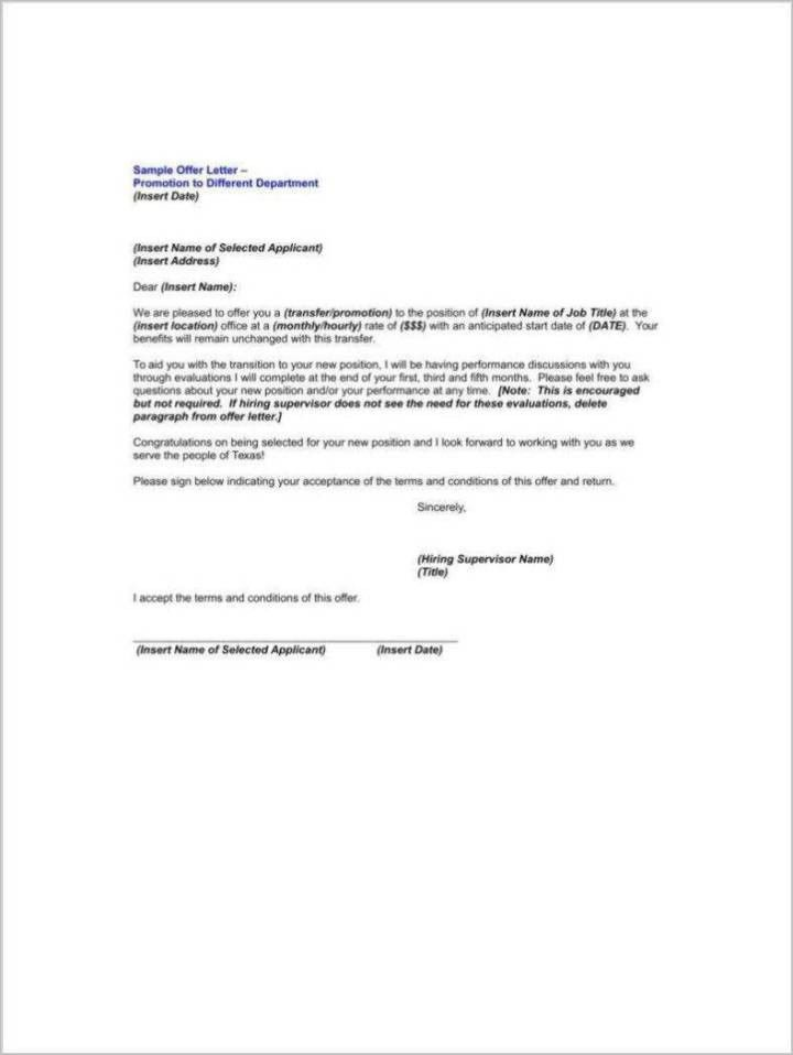 Promotion Announcement Letter Sample | Docoments Ojazlink