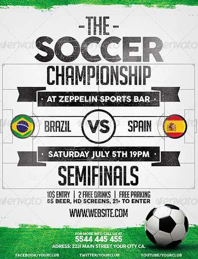 Soccer Flyer Template. Soccer Poster / Flyer Template Soccer ...