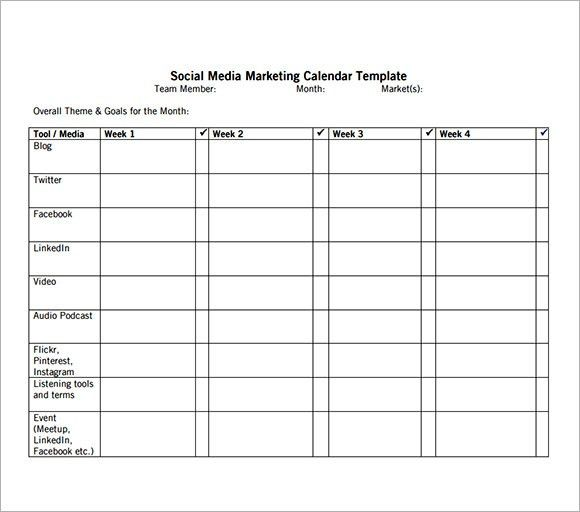 Sample Marketing Calendar. How To Build A Social Media Editorial ...