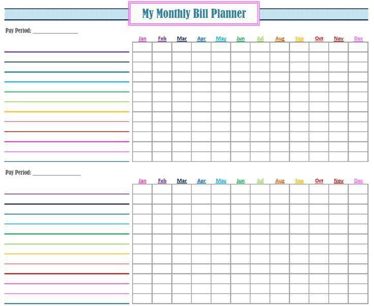 Best 25+ Bill planner ideas on Pinterest   Bill organization, Bill ...