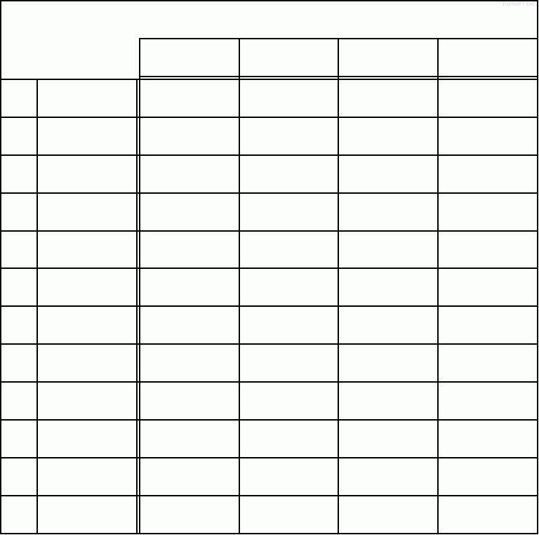 6 blank chart template | Receipt Templates