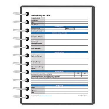Incident report form template | Darley PCM
