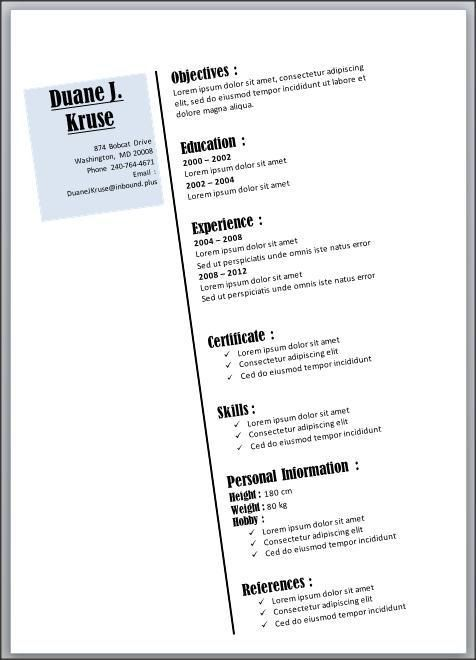 11 best Resume Template Microsoft Word images on Pinterest ...