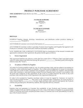Letter of Intent to Purchase Products | Legal Forms and Business ...