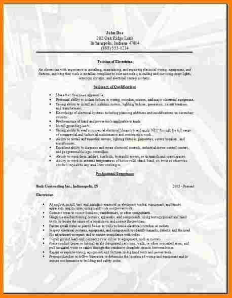 10+ electrician resume samples | inventory count sheet