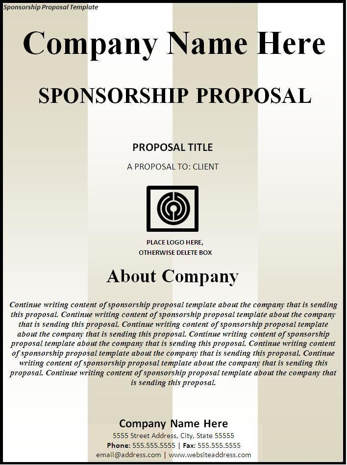 Free Sponsorship Proposal Template Archives - Fine Templates