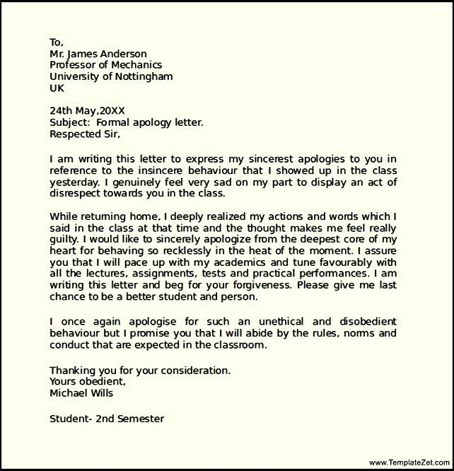 Superior How To Write A Formal Apology Letter | TemplateZet