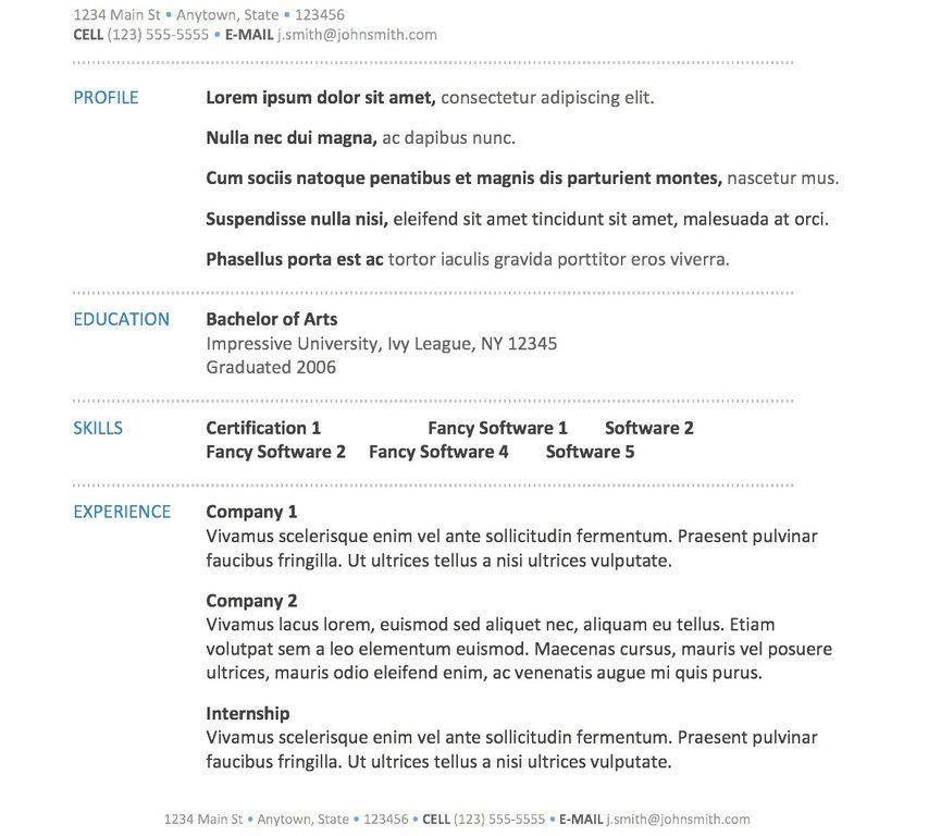 Pretentious Resume Examples Word 14 Free 40 Top Professional ...