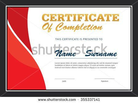 Certificate Diploma Template Stock Vector 340236236 - Shutterstock