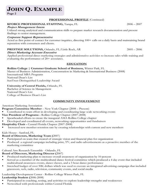 Business Resume Examples 15 Business Analyst Resume Sample Pg 1 ...
