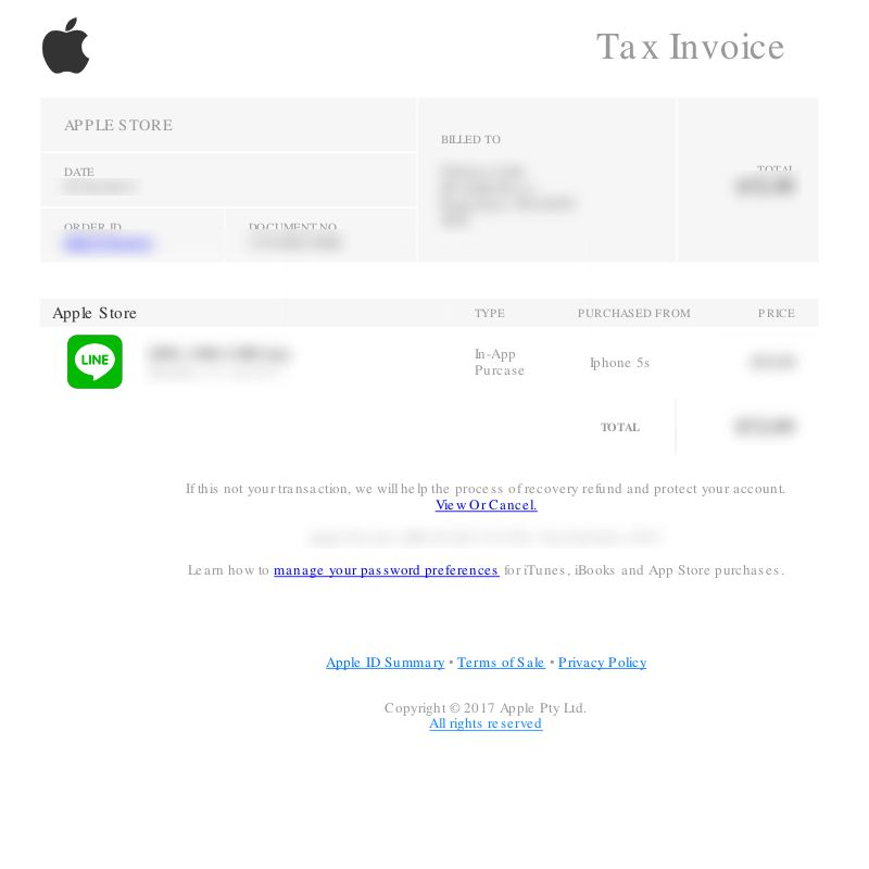"""Apple Store """"Tax Invoice"""" Email Phishing Scam"""