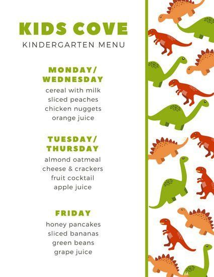 Kids Menu Templates - Canva