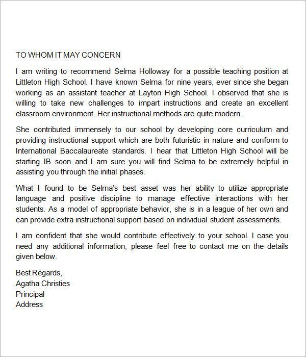 Sample Mba Recommendation Letter. 8+ Letters Of Recommendation For ...