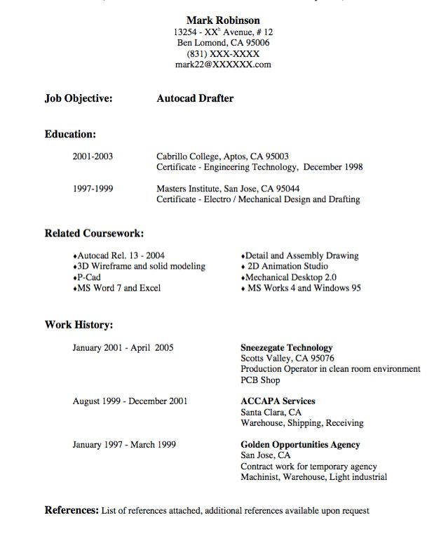 autocad drafter resume sample - http://exampleresumecv.org/autocad ...