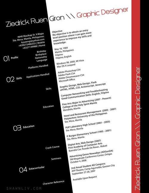Top 25 Creative and Outstanding Resume CV : Samples & Examples ...