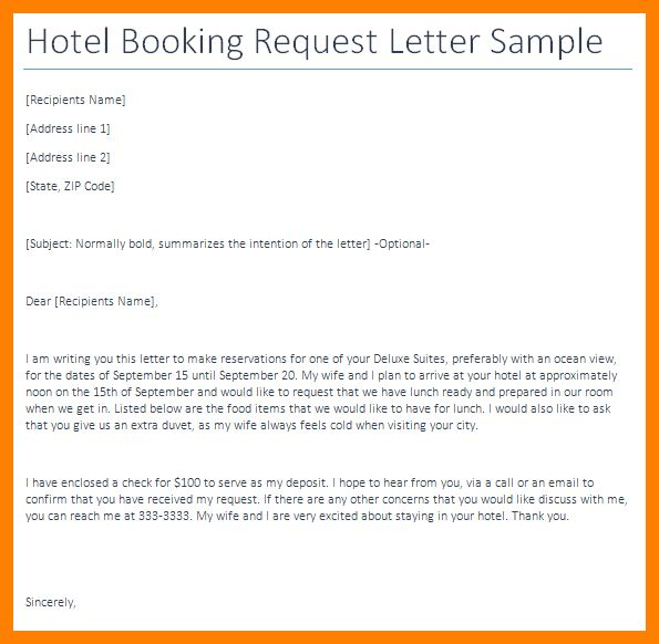 6+ sample of hotel booking confirmation letter | joblettered
