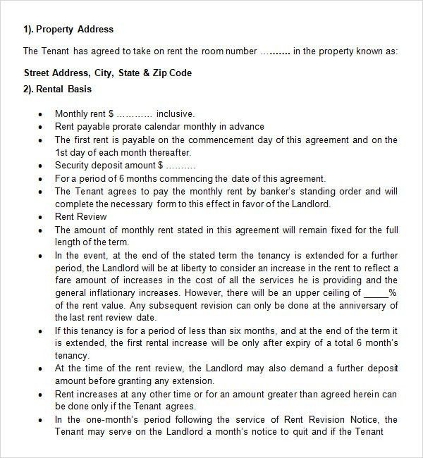 20+ Rental Agreement Templates - Word Excel PDF Formats